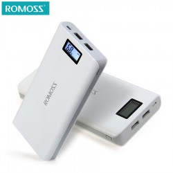 Original 20000 mAh ROMOSS Sense 6 / 6 Plus LCD Portable Power Bank Charger External Battery Fast Charging For Phones Tablet